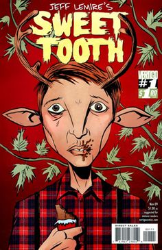 Sweet Tooth, the story of a post-apocalyptic Nebraska in which some people are human/animal hybrids. Start with Sweet Tooth Vol. 1: Out of the Woods.