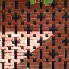 Pooja Jaiswal: Jaali (perforated screen) - Another! Brick Masonry, Brick Facade, Brick Architecture, Architecture Details, Narrow Staircase, Brick Art, Brick Walls, Brick Design, Wall Fans