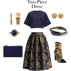 2 piece look #3 by lazzzybum on Polyvore featuring polyvore, fashion, style, HUGO, Chicwish, Balmain, Lanvin, Ippolita, Chanel, Dolce&Gabbana and Yves Saint Laurent
