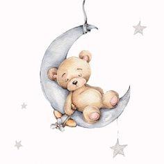 Nursery Drawings, Baby Animal Drawings, Illustration Inspiration, Bear Illustration, Calin Gif, Sleep Teddies, Teddy Bear Drawing, Baby Motiv, Elephant Balloon