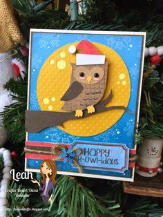 Craftin Desert Diva's: Holly Day Punnies - Happy H-OWL-idays
