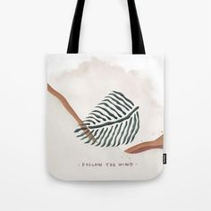 Leaf in the wind Tote Bag Cute Presents, Gifts For An Artist, Yoga Bag, Printed Tote Bags, Dusty Pink, Beach Towel, Laptop Sleeves, Hand Sewing, Floral Design