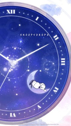 #SNOOPY #スヌーピー     (星空時計)