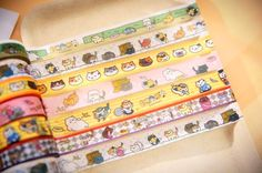 Amazing+washi+tape+with+Neko+Atsume+design!+Now+you+can+finally+have+backyard+cats+all+over+your+house+in+real+life.+ Tapes+are+1.5CM+by+10M+long,+7+different+designs,+sent+at+random.