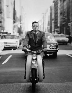 The American writer and editor William F. Buckley Jr. USA. New York City, 1967. (Photo by Philippe Halsman)