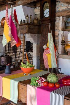 linge basque AINARA 1910 Lartigue - linge de maison - décoration intérieure