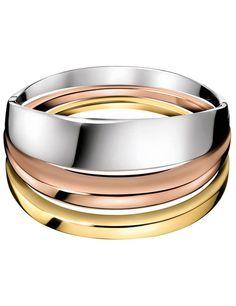 Anillo en plata, oro amarillo y oro rosa de CK Calvin Clein. #moda #accsesorios #estilo