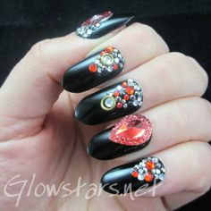 Who cares where we go we're ready for the afterglow: A manicure using Collection Blackjack