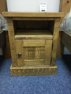 Another style of Rustic Plank Bedside tables available from Cobwebs Furniture Company.