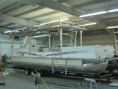Image detail for -Offering kits and pre-built pontoon boats, as well as custom railings, furniture, trailers and accessories.