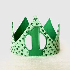 A personal favorite from my Etsy shop https://www.etsy.com/listing/266343414/st-patricks-day-crown-first-birthday