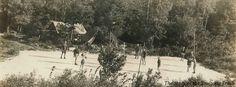 Circa 1927 postcard of a volleyball game at Camp #Yawgoog!