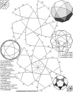 Archimedean Solids – Fold Up Patterns | The Geometry Code:Universal Symbolic Mirrors of Natural Laws Within Us