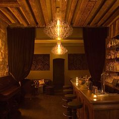 """I want to pin this in """"decor"""" for the fab chandelier and the sensual interior. But I think I will pin it to travels instead.True to its name, the Experimental Cocktail Club, a neo-baroque-esque lounge, serves ingenious drinks, such as a new-style Old Fashioned made with grapefruit zest, as opposed to orange."""
