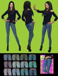 Jeans at Gisheld via Sims 4 Updates  Check more at http://sims4updates.net/clothing/jeans-at-gisheld/