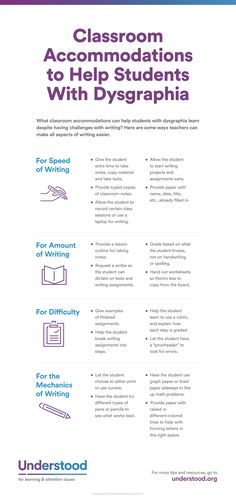 Accommodations to Help Students with Dysgraphia | Writing Issues - Understood