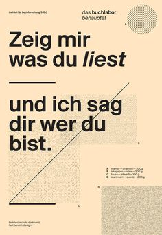 """""""Show me what you read and I'll tell you who you are.""""   frauflunger / herrschilling - typo/graphic posters"""