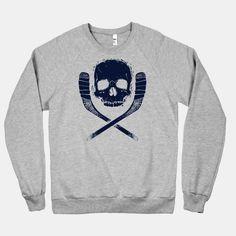 Hockey Roger #hockey #sports #skull #stick #puck #cool #pirate #ice