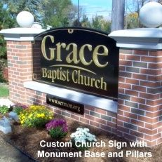 Buy affordable business signs, outdoor signs & banners, Church & School signs & posters at The Sign Stuff MarketPlace Signage Design, Facade Design, Brick Columns, Monument Signs, Real Estate Signs, Entrance Sign, Church Signs, Farm Signs, Faux Brick