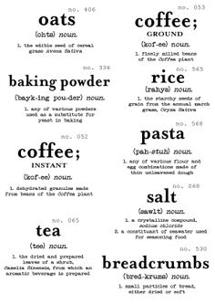 ≡ Printables for your pantry!