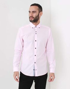The Remus Uomo Tapered Seville Parker shirt is a shirt with a a difference as it features distinguishable two tone buttons to the placket. Pink Accents, Occasion Wear, Seville, At Least, Menswear, Shirt Dress, Mens Tops, Cotton, Shirts