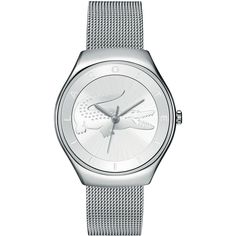 Lacoste Women's Valencia Watch (660 BRL) ❤ liked on Polyvore featuring jewelry, watches, accessories, watches watches, sport watches, quartz movement watches, lacoste watches, dial watches and sports watches