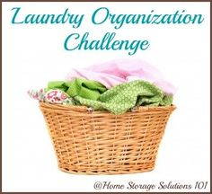 Get your laundry under control during the Laundry Organization challenge on Home Storage Solutions 101 {part of the 52 Week Organized Home Challenge}.