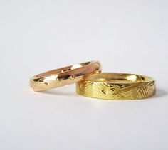 Unique wedding rings - Anelli nuziali unici e personalizzati