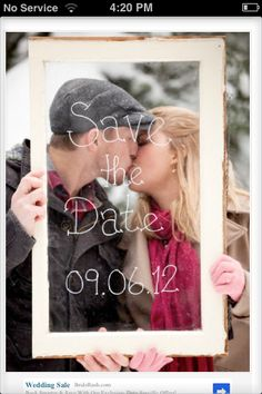 Save the date- wedding ideas This would be great!!!