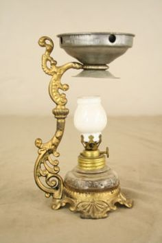 Victorian Cresolene Lamp    Used to heat and vaporize medicine so the patient could breathe it in.