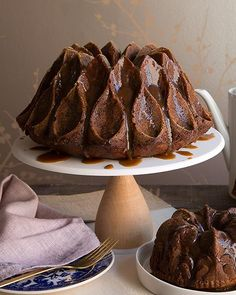 This is the most festive of cakes! Perfectly spiced and not too sweet... until you smother it in toffee sauce and faux creme anglaise!