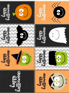 FREE printable happy halloween labels