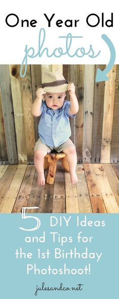 Adorable ways to capture your little one-year-old!