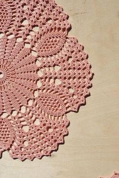 Handmade crochet doily Size: inches - cm) Material: cotton Color: brown-pink (color Nr Please pick the color for doily. Color samples can be seen in the photo. Col Crochet, Crochet Dollies, Crochet Round, Crochet Home, Thread Crochet, Crochet Motif, Crochet Stitches, Free Crochet Doily Patterns, Crochet Circles