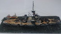 1/700 Brazilian battleship São Paulo (Scratchbuilt) by Alexandro Luiz Braga - IPMS - CURITIBA BRAZIL - 2014 - BRONZE AWARD