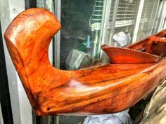 Koa Hawaiian Wood Outrigger Canoe ~ Outrigger Canoe, Egg Chair, Hawaiian, Wood, Painting, Furniture, Home Decor, Decoration Home, Woodwind Instrument