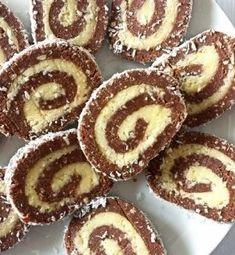 Rulada pe care o poti face cand ai musafiri sau la o aniversare, pentru ca iese destul de multa si este delicioasa. Iti las reteta aici: Romanian Desserts, Biscotti, Doughnut, Sweet Treats, Muffin, Food And Drink, Cooking Recipes, Sweets, Homemade