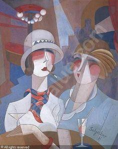 hugo scheiber art | SCHEIBER Hugó,LES DEUX JEUNES FEMMES AU BAR,Eric Pillon Enchères ...