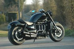 Triumph Rocket III Roadster. I've seen two in person. Huge bikes!!! Beastly!