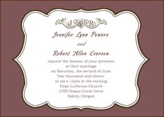 Simple Wedding Invitations For Second Marriages Inspiring