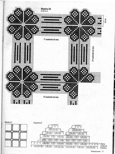 Home improvement financing and loans (Pattern) - Crochet Filet Crochet Stitches Patterns, Crochet Chart, Filet Crochet, Crochet Motif, Crochet Designs, Crochet Doilies, Crochet Afgans, Crochet Fabric, Crochet Tablecloth