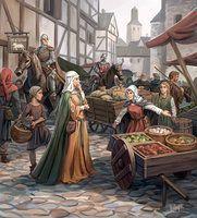 Medieval Market by ~Minnhagen on deviantART