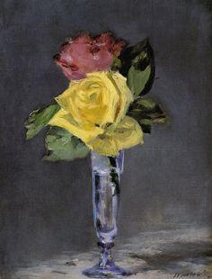 Эдуар Мане. Розы в бокале для шампанского