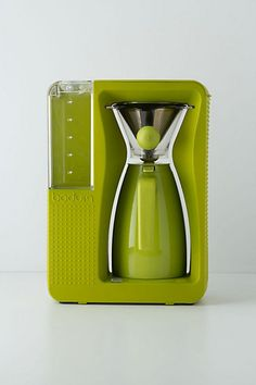 Bistro Brew Coffee Maker #anthropologie How about a jolt of fabulous color to go with your morning caffeine?