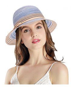 7d54af8d5d5 Bowknot Casual Straw Women Summer Hats Big Wide Brim Beach Hat - Navy -  CE12F909AL1