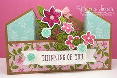 Rebecca Scurr - Independent Stampin' Up! Fancy Fold Cards, Folded Cards, Bridge Card, Slider Cards, Step Cards, Wink Of Stella, Shaped Cards, Flower Stamp, Graduation Cards