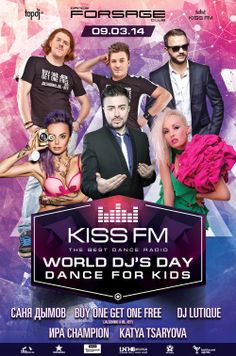 Kiss FM Ukraine World dj day party poster design