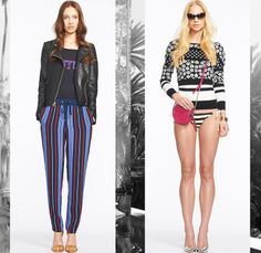 Juicy Couture 2014 Spring Womens Presentation in New York - Denim Skinny Jeans Trousers Trucker Jacket Flowers Florals Print Animal Safari L...