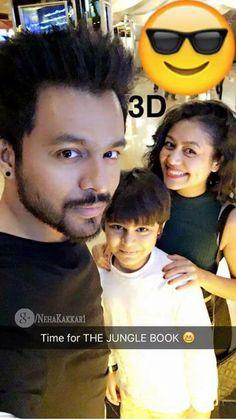 Neha Kakkar & Tony Kakkar with Little Fan