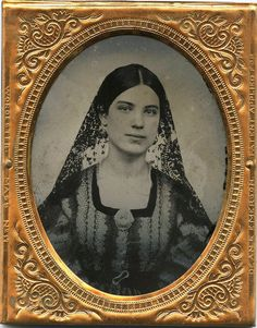 1 9 Plate Ambrotype Photo Portrait of A Beautiful Young Woman with Cameo Brooch   eBay